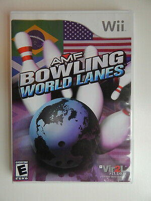 AMF Bowling: World Lanes Game in Case! Nintendo Wii