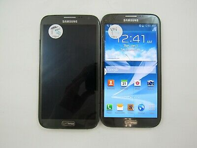 LOT OF 2 Cracked Samsung Galaxy Note 2 I605 Verizon Check IMEI 5CR 623