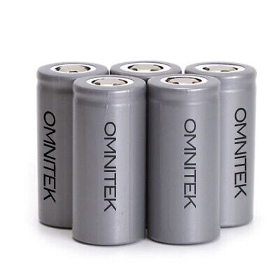 OmniTEK LiFePo4 32650 Lithium 3.2v 6000mAh (6AH) Li-ion Rechargeable Battery