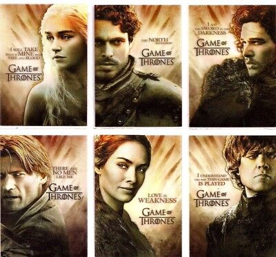 2013 Game Of Thrones Series 2 Gallery Chase Card Set