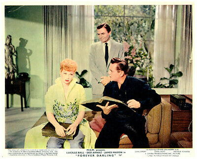 Forever Darling Original Lobby Card Lucille Ball Desi Arnaz James Mason 1956