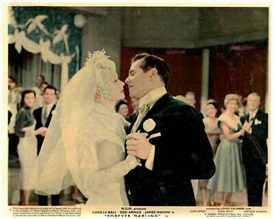 Forever Darling Original Lobby Card Lucille Ball Desi Arnaz wedding 1956