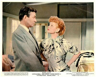 Forever Darling Original Lobby Card Lucille Ball James Mason 1956 color