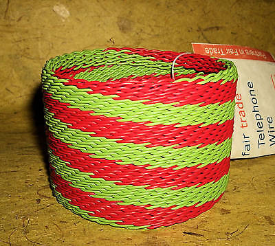 Bangle new Fair Trade African Telephone Wire cuff itw45