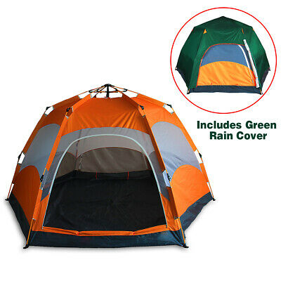 Qwest 4-6 person Instant Easy Pop Up Camping Tent, Water Resistant Shelter Shade