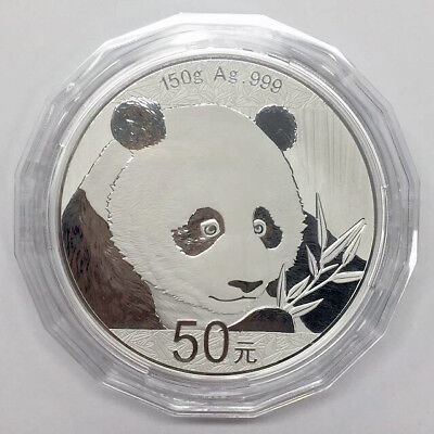China 2018 panda 150g silver coin S50Y with coa and without box