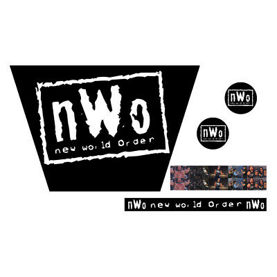 WWF/WWE Mattel Retro NWO White Logo Custom Ring Stickers/Decals