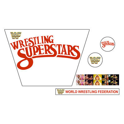WWF/WWE Mattel Retro Wrestling Superstars White Custom Ring Stickers/Decals
