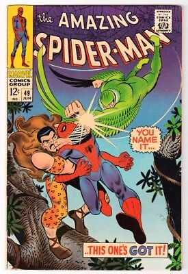 MARVEL Comics SPIDERMAN Amazing Silver age #49 1964  VFN- KRAVEN