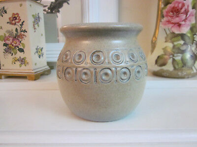 Eric Juckert V11 Tan And Blue Circle Pattern Vase