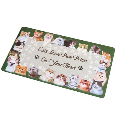 Cat Paw Prints On Your Heart Skid-Resistant Rug, by Collections Etc