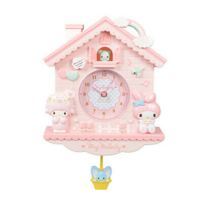 My melody wall clock alarm decoration girl cute gift 35x28x5cm pink