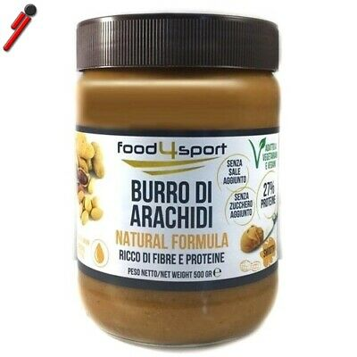 Pro Nutrition Food4sport, Burro di arachidi Smooth, 500 g