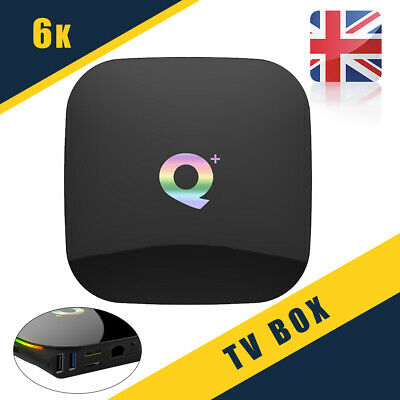 Android 8.1 4GB+32GB H6 TV BOX 6K Q Plus Quad Core HD Media Player UK Hot