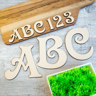 Victorian Wooden Letters & Numbers Alphabet Letters & Numbers, 4mm Thick MDF