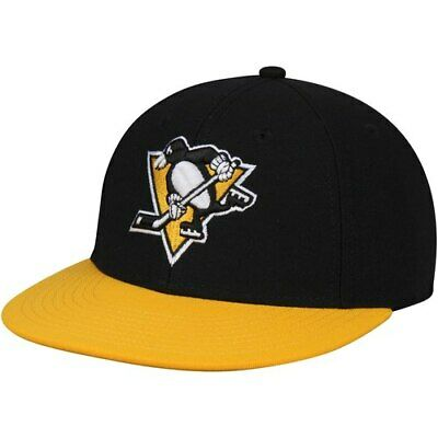 designer fashion be044 17db4 Pittsburgh Penguins adidas Basic Two-Tone Fitted Hat - Black