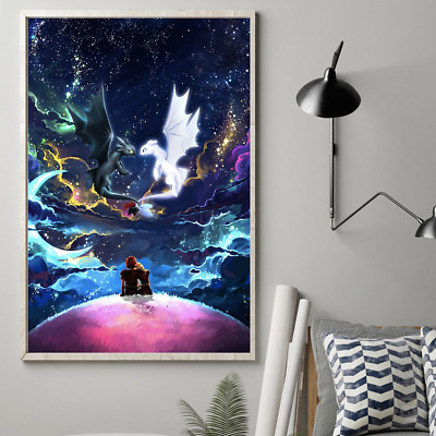 How to Train Your Dragon The Hidden World Toothless & Light Fury Poster No Frame