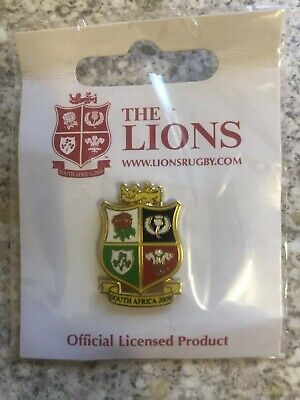 British And Irish Lions Rugby Union Shield Pin Badge South Africa 2009 - Bnip