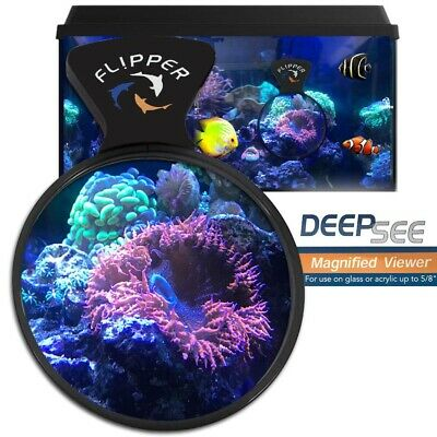 Flipper DeepSee Magnified Aquarium Glass Viewer Monitor Fish & Coral-QTY 1