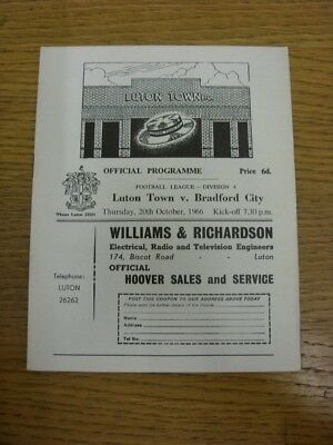 20/10/1966 Luton Town v Bradford City  . Faults with this item should have alrea