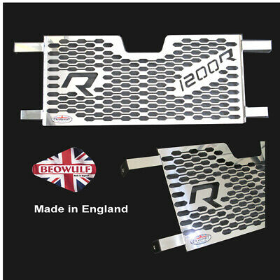 BMW R1200R & RS (15-18) Polished Stainless Steel Radiator Guard by Beowulf B015