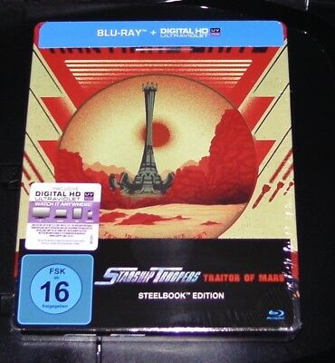 Starship Troopers Traitor of Mars Limited Steelbook Edition Blu Ray New & Sealed