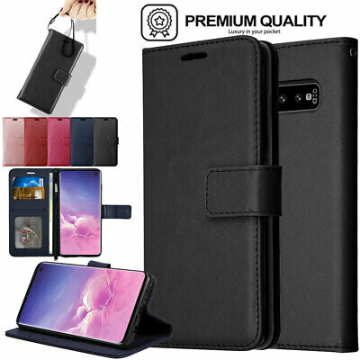 For Samsung Galaxy S10 S10e S10 Plus Flip Slim Leather Wallet Case Cover Stand