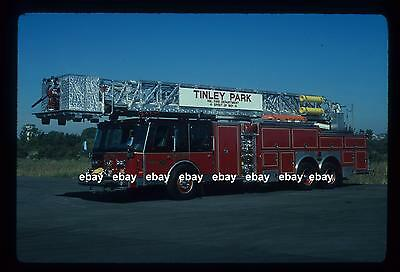 TINLEY PARK IL 1990 Emergency One 95' Tower Ladder Fire Apparatus Slide