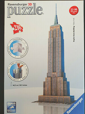 Ravensburger 3D Puzzle Empire State Building Flag Edition 125838 Neu & Ovp Puzzles & Geduldspiele