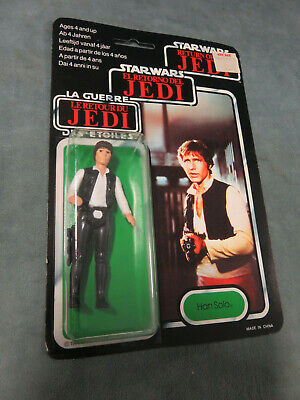 1983 STAR WARS Return of the Jedi Han Solo TRI-LOGO Corridor Photo Figure NEW