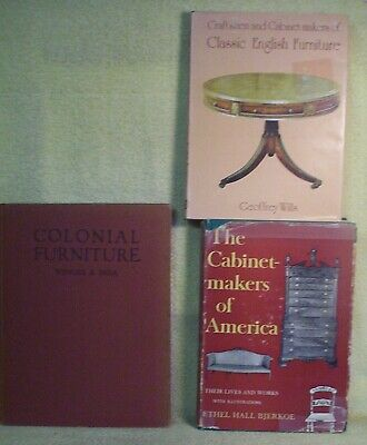 3 Different Vintage Hardback Books About Furniture English American Colonial