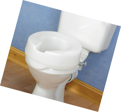 Homecraft Ashby Easy Fit Raised Toilet Seat, High Elevated Locks Onto Most Toile