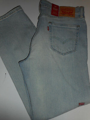 5b7495e59a3 NWT 541 Levi's ATHLETIC More Room Fit 35 x 32 Taper Leg Stonewashed Blue  Jeans