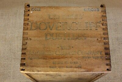 Old Dovercliff chalk wood shipping box one room school house vintage DOVETAILED