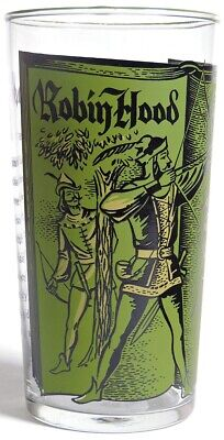ESA2970. Vintage: ROBIN HOOD Drinking Glass from Libby Glass Company (1960's)