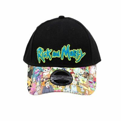 Official Rick and Morty Sublimated Print Bill Snapback Cap - One Size  Adjustable f490c77d1236