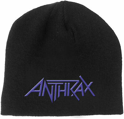 ANTHRAX Classic Band Logo BEANIE EMBROIDERED 3D LOGO MÜTZE