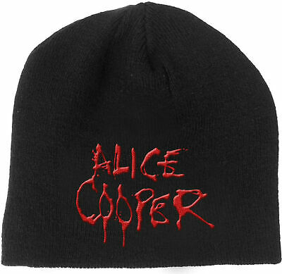 ALICE COOPER Classic Dripping Band Logo BEANIE EMBROIDERED 3D LOGO MÜTZE