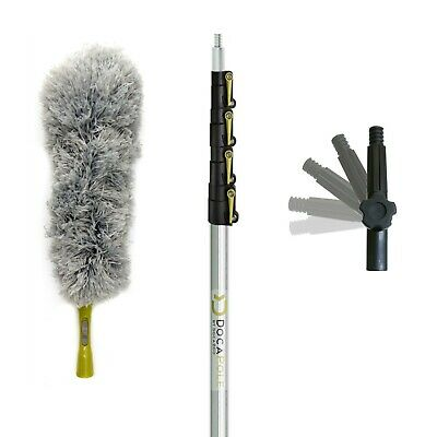 DocaPole 6-24 Foot (2m – 7m) Extension Pole + Microfiber Feather Duster // High