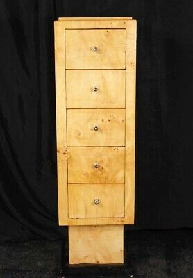Single Art Deco Tall Boy Chest Drawers 1920s Furniture