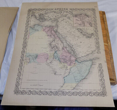 1855 Antique COLOR Map///AFRICA, NORTHEASTERN PART