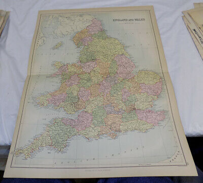 1879 Antique COLOR Map///ENGLAND AND WALES, published by A & C Black