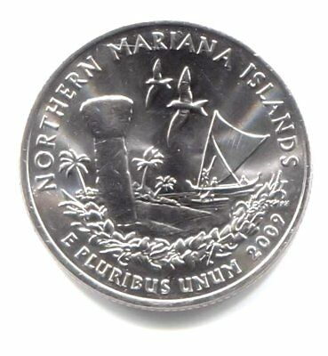 2009 D Northern Mariana Islands Territory Quarter BU 40 Coin Roll US Mint Bag