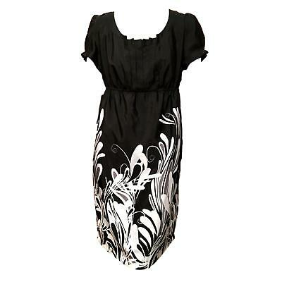 5121a71245932 Liz Lange for Target Maternity Black White Short Sleeve Empire Waist Dress  Sz M