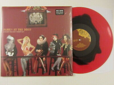 PANIC AT THE DISCO A Fever You Can't Sweat Out LP RED/BLACK VINYL rare OOP
