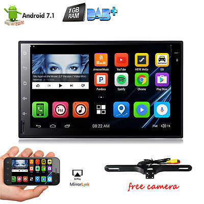 7'' Android 7.1 2DIN Car Stereo Head Unit GPS Navi Radio Wifi 4G Bluetooth DAB+