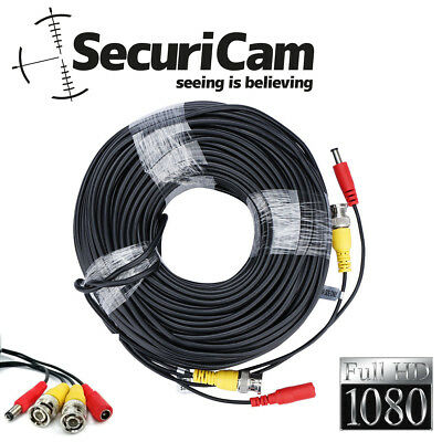 New 5M,10M,15M,20M,30M,40M,50M,80M Premade Power & Video CCTV lead Cable