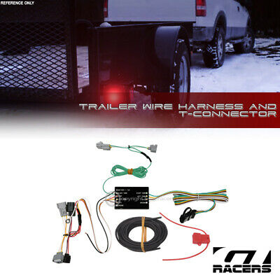 for 2016-2019 toyota tacoma trailer hitch 4-way output wire harness t-