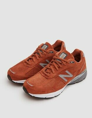 check out 362dd b97bf NEW BALANCE KID'S 990v4 Big Kids Unisex Shoes Orange Size 4