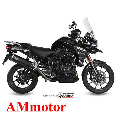 Mivv Triumph Tiger Explorer 1200 2012 12 Terminale Scarico Speed Edge Black Moto